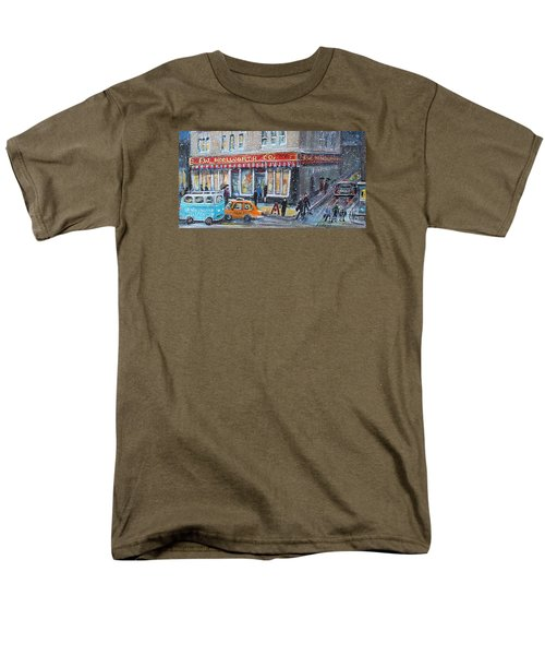 Woolworth's Holiday Shopping Men's T-Shirt  (Regular Fit) by Rita Brown