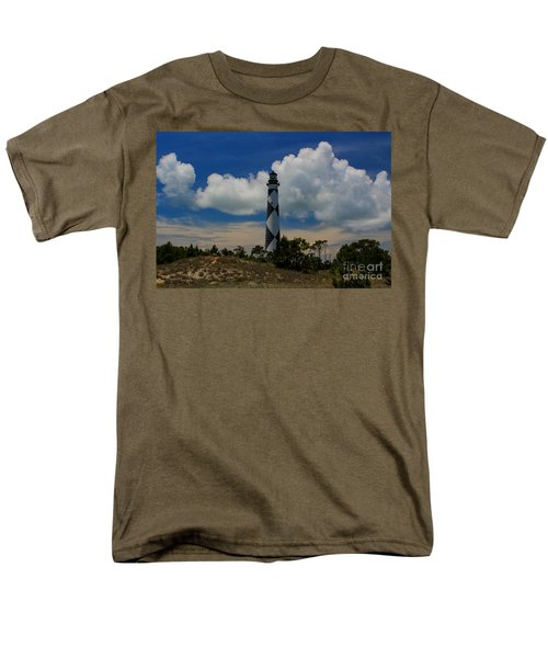 Cape Lookout Lighthouse Men's T-Shirt  (Regular Fit) by Tony Cooper