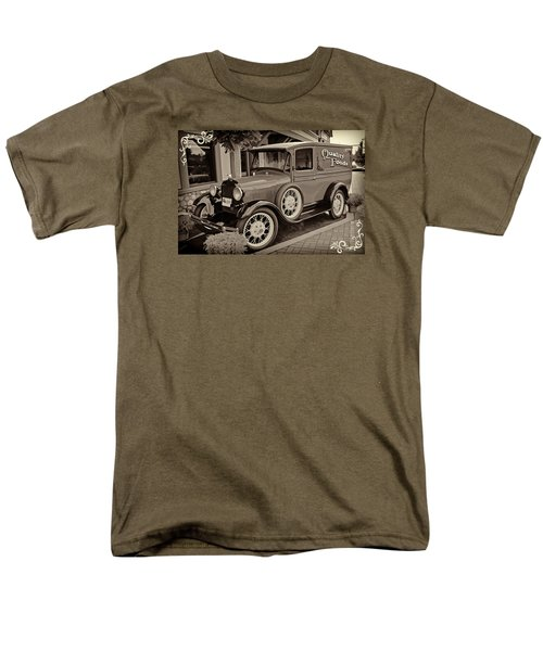 Men's T-Shirt  (Regular Fit) featuring the digital art 1930 Ford Panel Truck by Richard Farrington