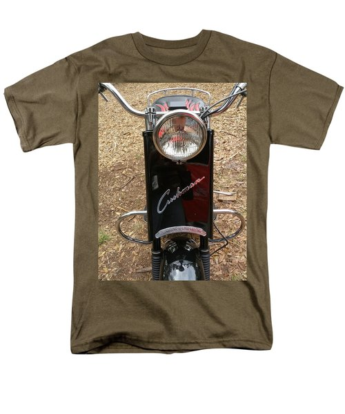 Men's T-Shirt  (Regular Fit) featuring the photograph 1950's Cushman by Fortunate Findings Shirley Dickerson