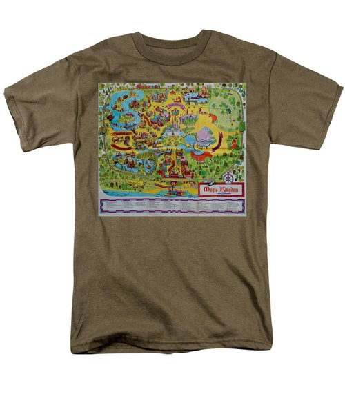 1971 Original Map Of The Magic Kingdom Men's T-Shirt  (Regular Fit) by Rob Hans