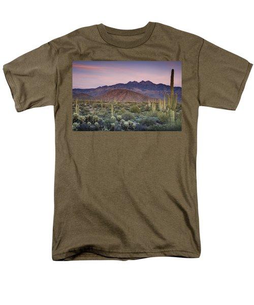A Desert Sunset  Men's T-Shirt  (Regular Fit) by Saija  Lehtonen