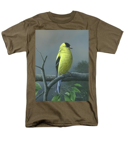 Men's T-Shirt  (Regular Fit) featuring the painting American Goldfinch by Mike Brown