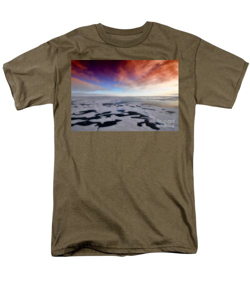 Men's T-Shirt  (Regular Fit) featuring the photograph Arctic Sea Ocean Water Antarctica Winter Snow by Paul Fearn