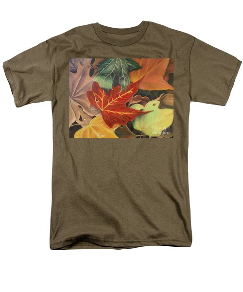 Autumn Leaves In Layers Men's T-Shirt  (Regular Fit) by Christy Saunders Church