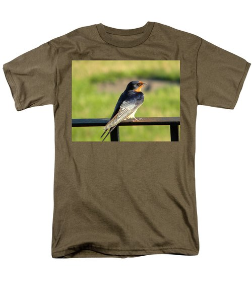 Men's T-Shirt  (Regular Fit) featuring the photograph Barn Swallow by James Petersen