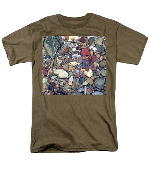 Men's T-Shirt  (Regular Fit) featuring the photograph Colorful Lake Rocks by Kerri Mortenson