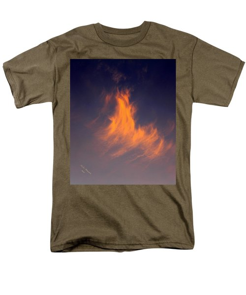 Men's T-Shirt  (Regular Fit) featuring the photograph Fire In The Sky by Jeanette C Landstrom
