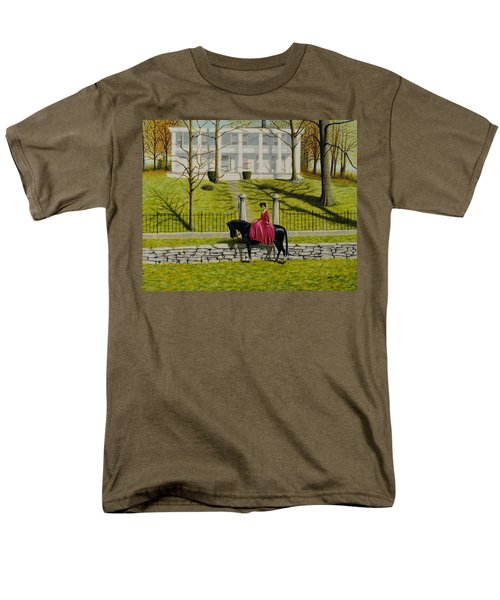 Men's T-Shirt  (Regular Fit) featuring the painting Her Favorite Horse by Stacy C Bottoms