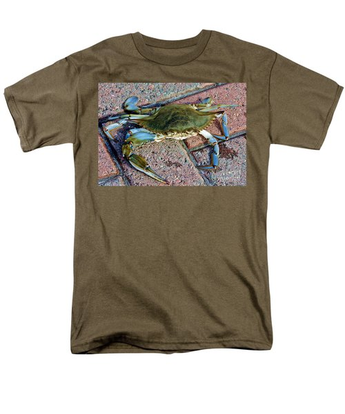 Men's T-Shirt  (Regular Fit) featuring the photograph Hudson River Crab by Lilliana Mendez