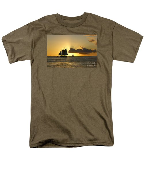 Men's T-Shirt  (Regular Fit) featuring the photograph Key West Sunset by Olga Hamilton