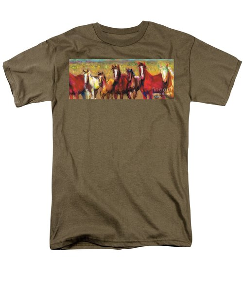Mares And Foals Men's T-Shirt  (Regular Fit) by Frances Marino