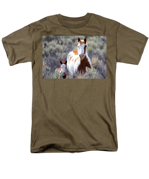 Momma And Baby In The Wild Men's T-Shirt  (Regular Fit) by Athena Mckinzie