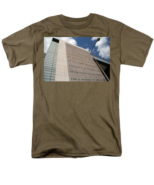 Men's T-Shirt  (Regular Fit) featuring the photograph The Newseum by Cora Wandel