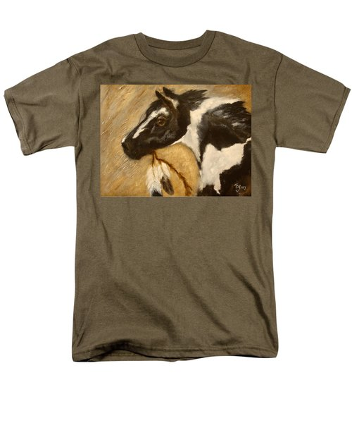 Men's T-Shirt  (Regular Fit) featuring the painting Oxbow's Medicine Man by Barbie Batson