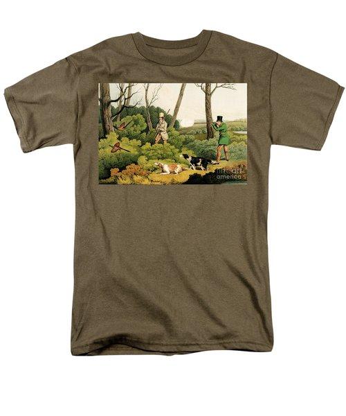 Pheasant Shooting Men's T-Shirt  (Regular Fit) by Henry Thomas Alken