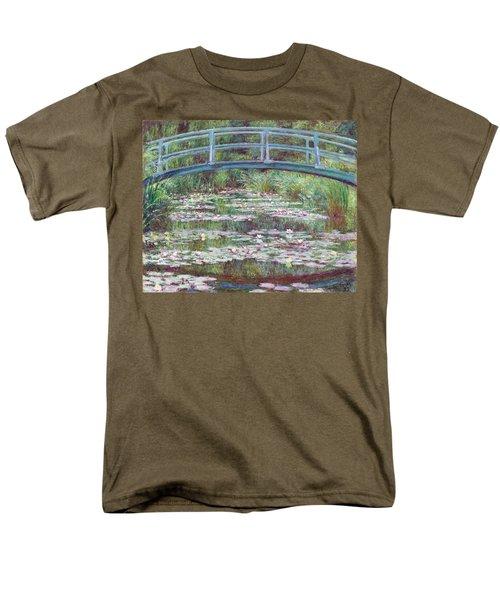 The Japanese Footbridge Men's T-Shirt  (Regular Fit) by Claude Monet