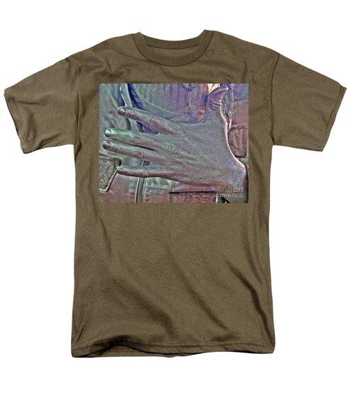 Men's T-Shirt  (Regular Fit) featuring the photograph Tin Man Hand by Lilliana Mendez