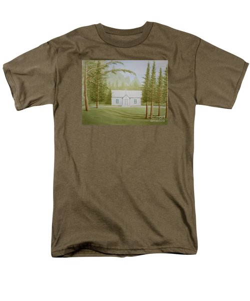 Men's T-Shirt  (Regular Fit) featuring the painting A North Carolina Church by Stacy C Bottoms