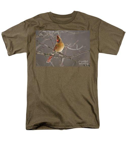 Female Northern Cardinal Men's T-Shirt  (Regular Fit) by Michael Cummings