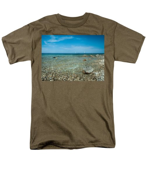Men's T-Shirt  (Regular Fit) featuring the photograph Mackinac Bridge by Larry Carr