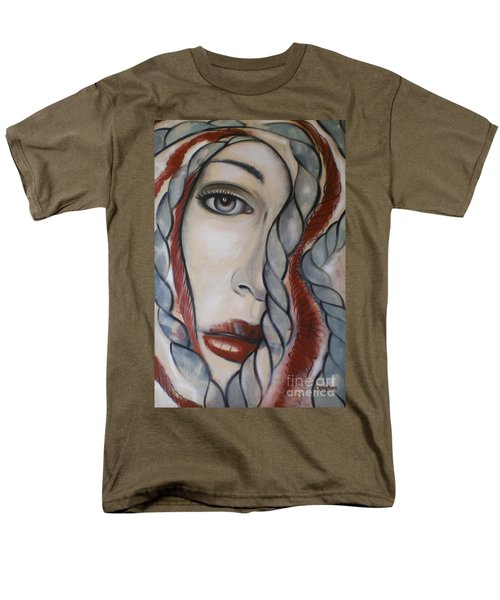 Men's T-Shirt  (Regular Fit) featuring the painting Melancholy 090409 by Selena Boron