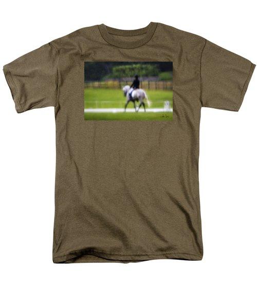Men's T-Shirt  (Regular Fit) featuring the photograph Rainy Day Dressage by Joan Davis