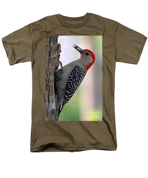 Men's T-Shirt  (Regular Fit) featuring the photograph Red Bellied Woodpecker  by Meg Rousher