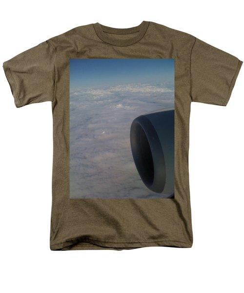 Men's T-Shirt  (Regular Fit) featuring the photograph 33000 Feet by Mark Alan Perry