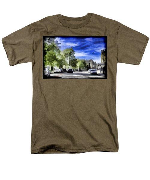 Cars On A Street In Edinburgh Men's T-Shirt  (Regular Fit) by Ashish Agarwal