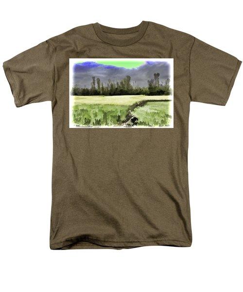 Mustard Fields In Kashmir Men's T-Shirt  (Regular Fit) by Ashish Agarwal