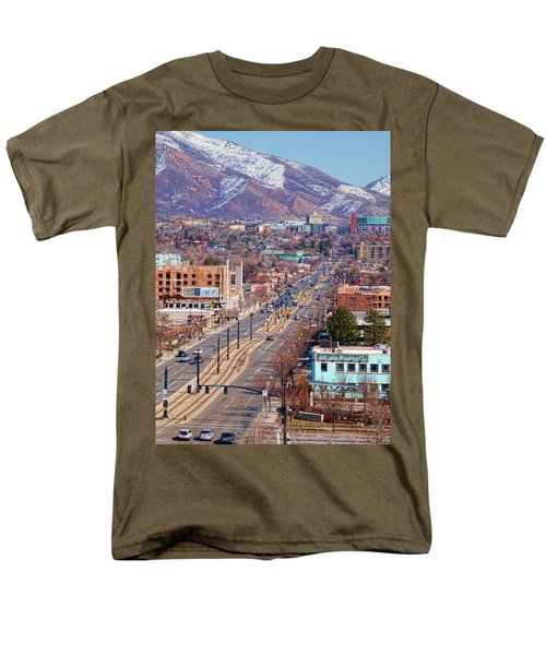 Men's T-Shirt  (Regular Fit) featuring the photograph 400 S Salt Lake City by Ely Arsha