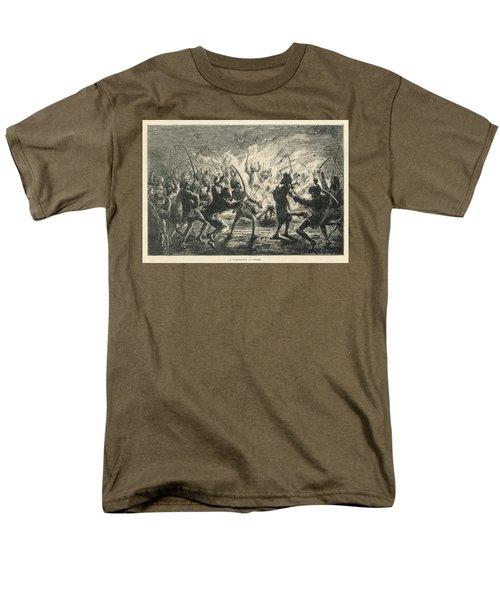 Semipalmated Sandpipers Men's T-Shirt  (Regular Fit) by Yva Momatiuk John Eastcott
