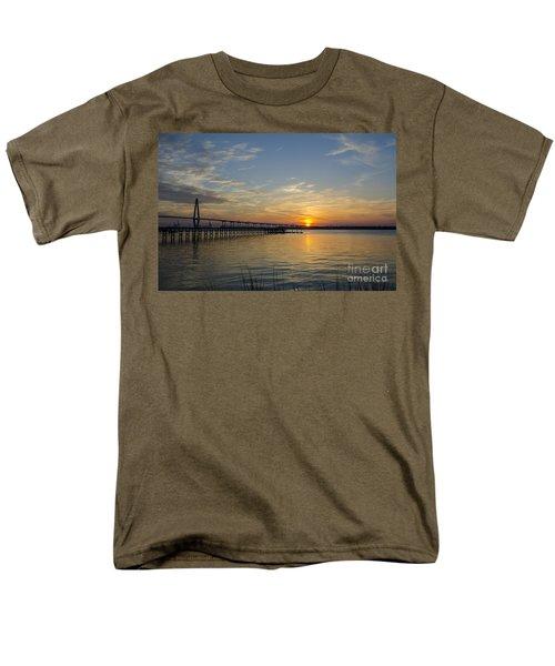 Arthur Ravenel Bridge Tranquil Sunset Men's T-Shirt  (Regular Fit) by Dale Powell