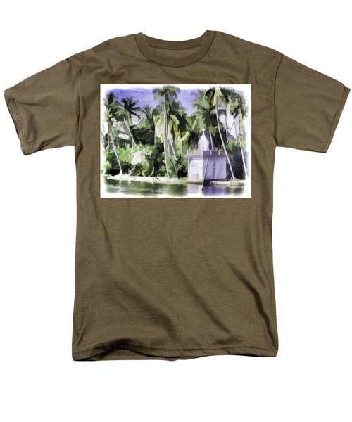 Church Located Next To A Canal Men's T-Shirt  (Regular Fit) by Ashish Agarwal
