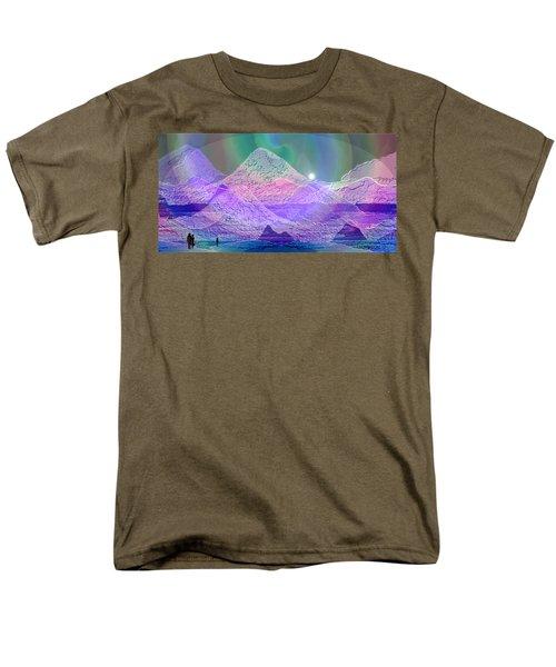 939 - Magic Mood  Mountain World Men's T-Shirt  (Regular Fit) by Irmgard Schoendorf Welch