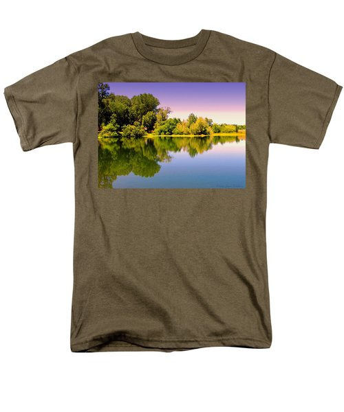 A Beautiful Day Reflected Men's T-Shirt  (Regular Fit) by Joyce Dickens