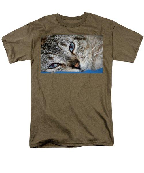A Cat Named...blue Men's T-Shirt  (Regular Fit)