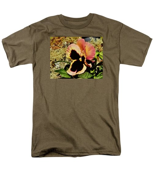 Men's T-Shirt  (Regular Fit) featuring the photograph A Charming Pansy by VLee Watson