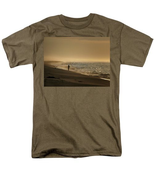Men's T-Shirt  (Regular Fit) featuring the photograph A Fisherman's Morning by GJ Blackman
