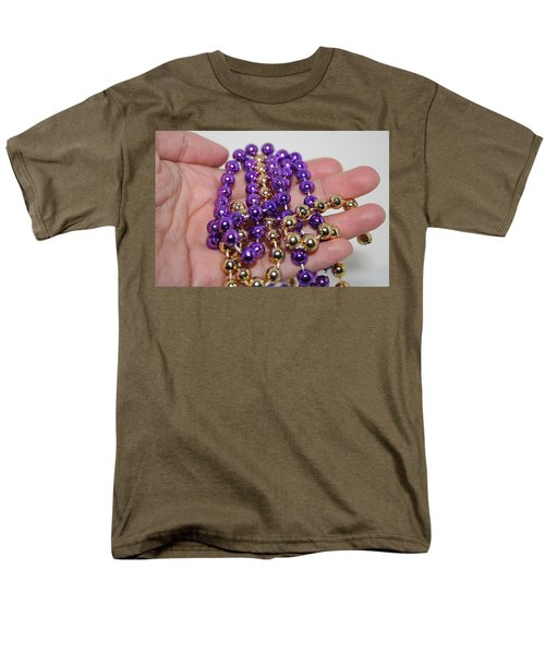 Men's T-Shirt  (Regular Fit) featuring the photograph A Handful Of Beads by Ester  Rogers