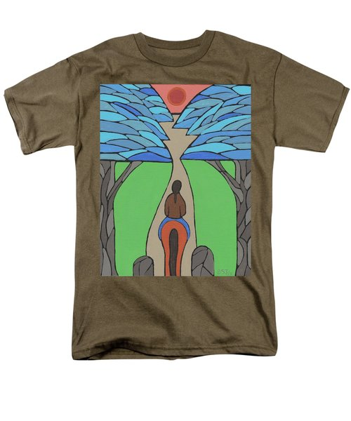 Men's T-Shirt  (Regular Fit) featuring the painting A Horse Of A Different Colour by Barbara St Jean