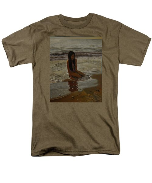 A Line Between Ocean And Sand Men's T-Shirt  (Regular Fit) by Thu Nguyen