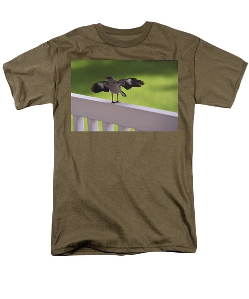 A Little Visitor Northern Mockingbird Men's T-Shirt  (Regular Fit) by Terry DeLuco