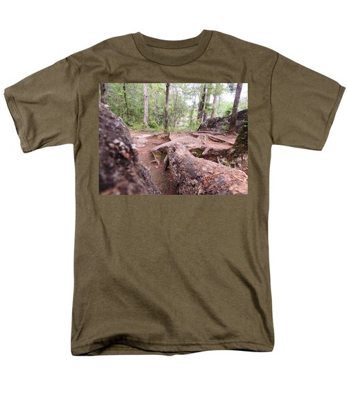 Men's T-Shirt  (Regular Fit) featuring the photograph A New View From The Woods by Aaron Martens