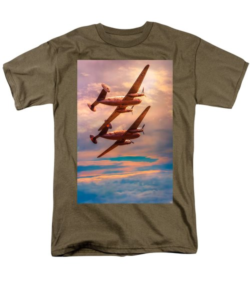 Men's T-Shirt  (Regular Fit) featuring the photograph A Pair Of Flamingos by Chris Lord