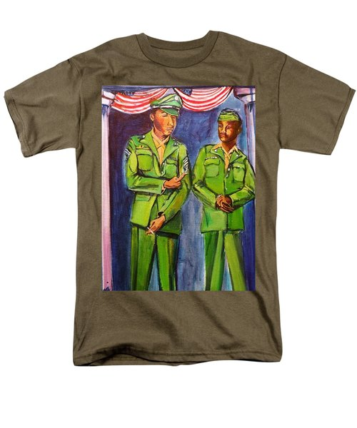 Men's T-Shirt  (Regular Fit) featuring the painting Daddy Soldier by Ecinja Art Works
