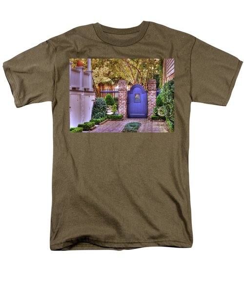 Men's T-Shirt  (Regular Fit) featuring the photograph A Private Garden In Charleston by Kathy Baccari