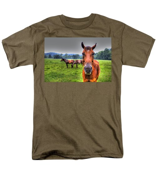 Men's T-Shirt  (Regular Fit) featuring the photograph A Starring Horse by Jonny D