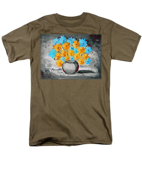 A Whole Bunch Of Daisies Selective Color II Men's T-Shirt  (Regular Fit) by Ramona Matei